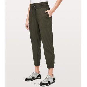 Lululemon Dance Studio Crop Pants in Dark Olive